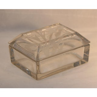 Vintage Duncan Miller Crystal Etched Glass Trinket Box Preview