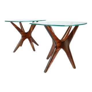 "Adrian Pearsall Walnut ""Jacks"" Lamp Tables - a Pair For Sale"