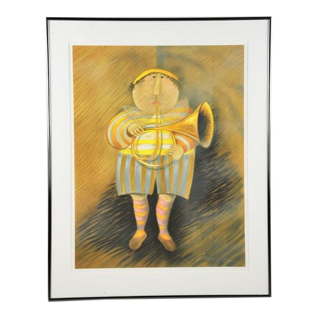 """Signed & Numbered Lithograph """"French Horn Player"""" by Graciela Rodo Boulanger - Image 1 of 9"""