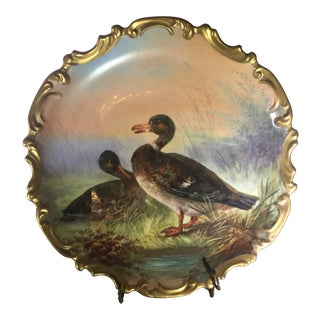 Dubois Limoges Plate, Signed For Sale