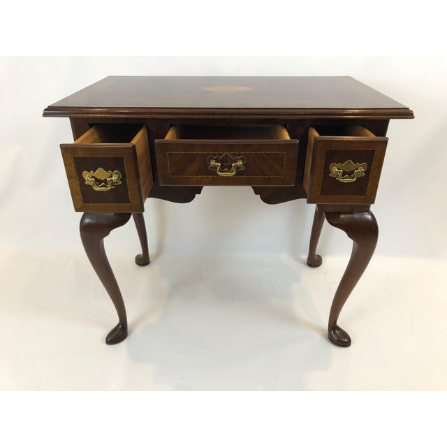 Councill Furniture 1990s Councill Furniture Flame Mahogany Lowboy For Sale - Image 4 of 11