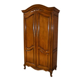 Vintage White Furniture Company French Style Cherry Wood Wardrobe