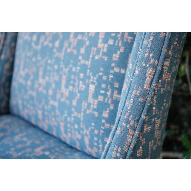 Retro Fabric Side Chairs - A Pair - Image 6 of 9
