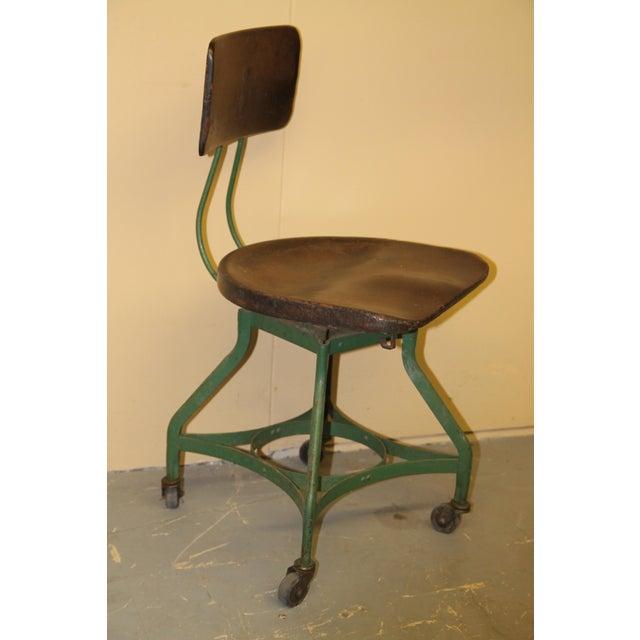 Toledo Metal Furniture Co. 1950s Vintage Toledo Metal Furniture Co Industrial Chair For Sale - Image 4 of 7
