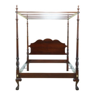 Harden Ball & Claw Cherry Queen Size Bed For Sale