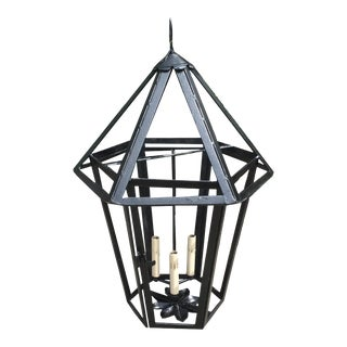 C.1930s French Octagonal Top Lantern, Newly Rewired For Sale