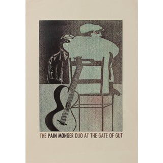 """""""The Pain Monger Duo at the Gate of Gut"""" 1960-70s Serigraph For Sale"""