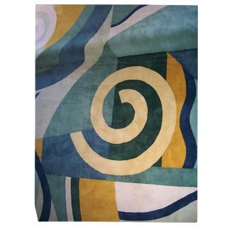 1980s Edward Field Deco Style Wool Rug - 13′ × 13′ For Sale