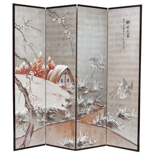 Antique Japanese Byobu Screen