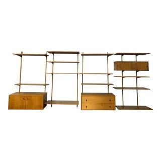 1960s Danish Modern Style Large Teak Modular Wall Unit by Scan For Sale