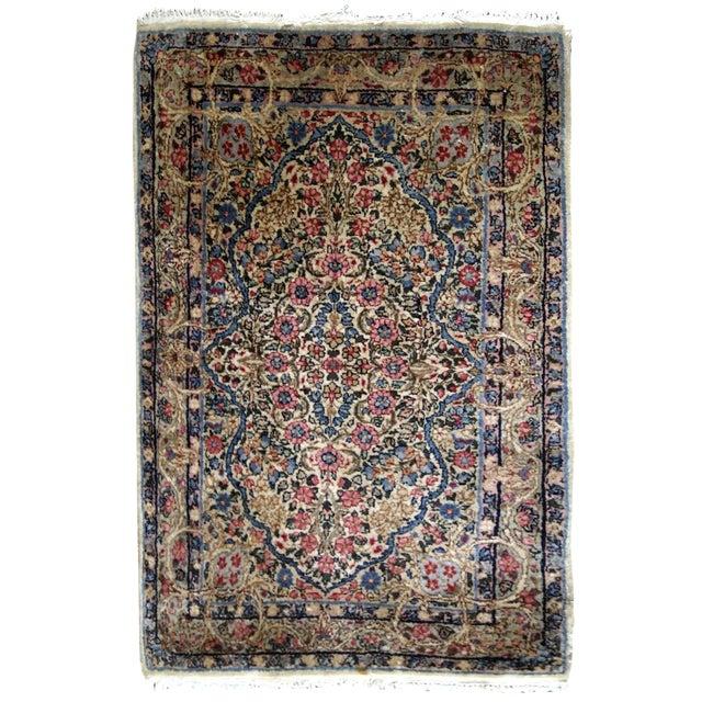 1920s, Handmade Antique Persian Kerman Rug 2.1' X 3.2' - 1b704 For Sale