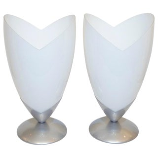 1970s Italian Organic Tulip Lamps by Tronconi - a Pair For Sale