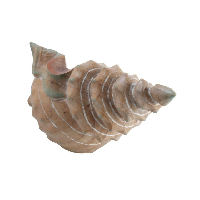 Handcrafted Wooden Seashell Sculpture - Image 6 of 8