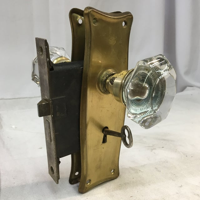 Antique Early 20th Century Art Nouveau Mortise Lock Box For Sale - Image 12 of 12