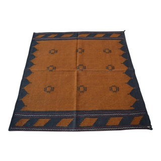 Vintage Turkish Handwoven Kilim - 4′4″ × 4′7″