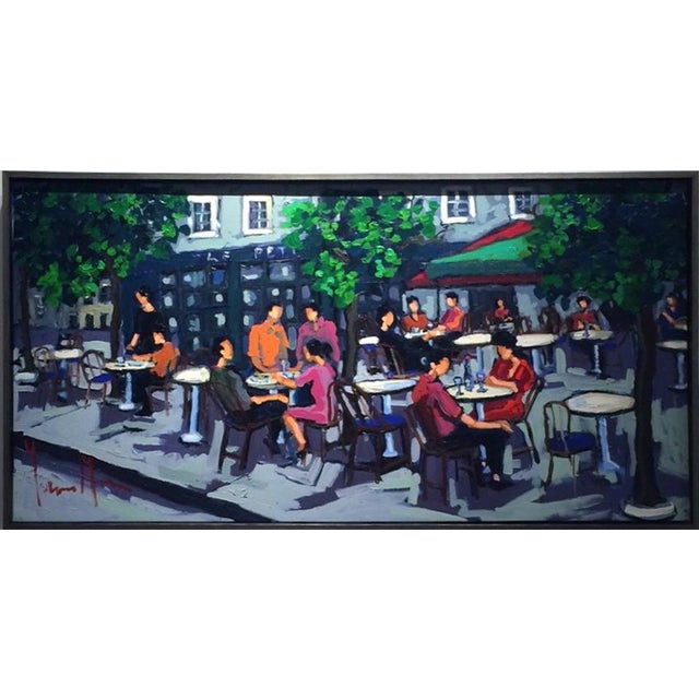 Contemporary Yvonne Mora, Paris Café Painting, 2013 For Sale - Image 3 of 6