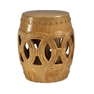 Sand Ceramic Rope Garden Stool For Sale