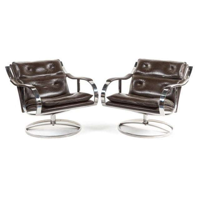 Mid Century Club Chairs, Knoll Style - Pair - Image 2 of 8