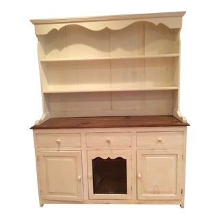Two Piece Kitchen Hutch For Sale