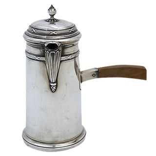 Antique French Sterling Silver Chocolate Pot For Sale