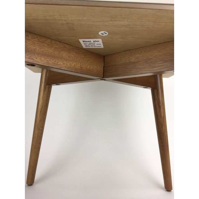 West Elm Mid-Century Style Two-Tone Nightstand Side Table For Sale In Atlanta - Image 6 of 9