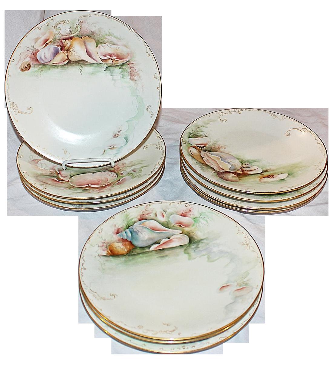 Limoges France Ocean Plates - Set of 11  sc 1 st  Chairish & Limoges France Ocean Plates - Set of 11 | Chairish