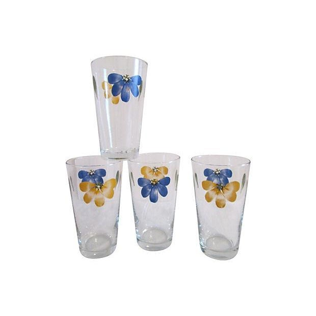 Vintage Libbey Petal Pint Tumblers - Set of 4 For Sale - Image 5 of 5