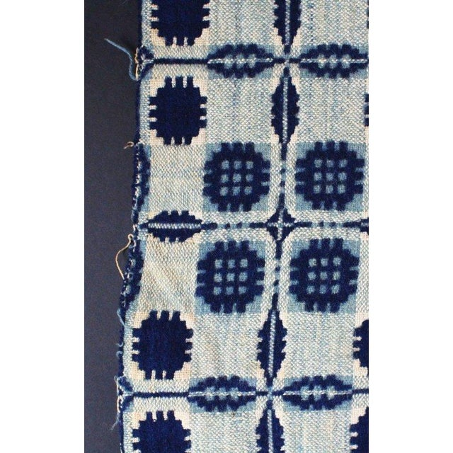 1936 Blue & White Coverlet Sample For Sale In Charleston - Image 6 of 8