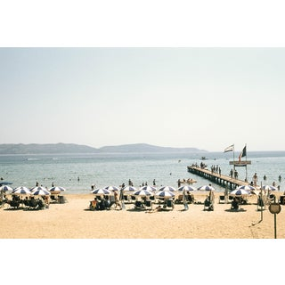 1950s Vintage French Riviera Le Lavandou Beach Photograph Print For Sale