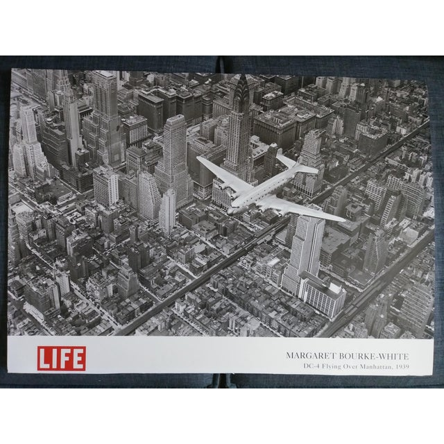 1939 Vintage Margaret Bourke White DC-4 Flying Over Manhattan Poster For Sale In Las Vegas - Image 6 of 6