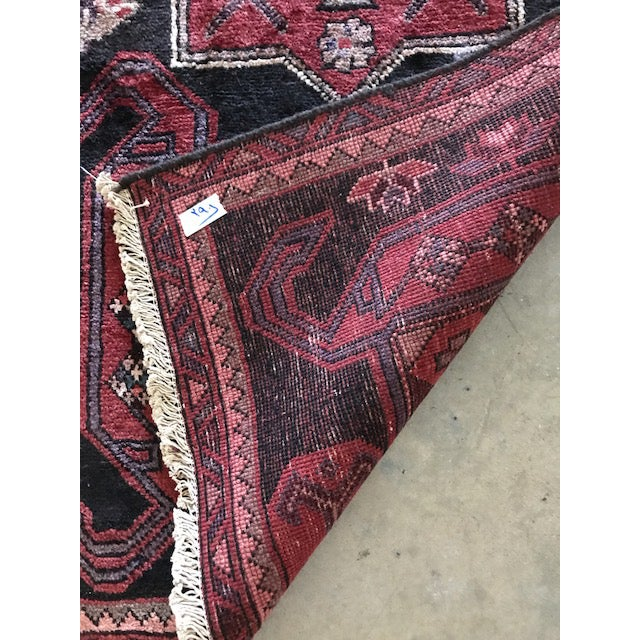 Vintage Persian Area Rug Runner W/ Millennial Pink Accents - Image 3 of 5