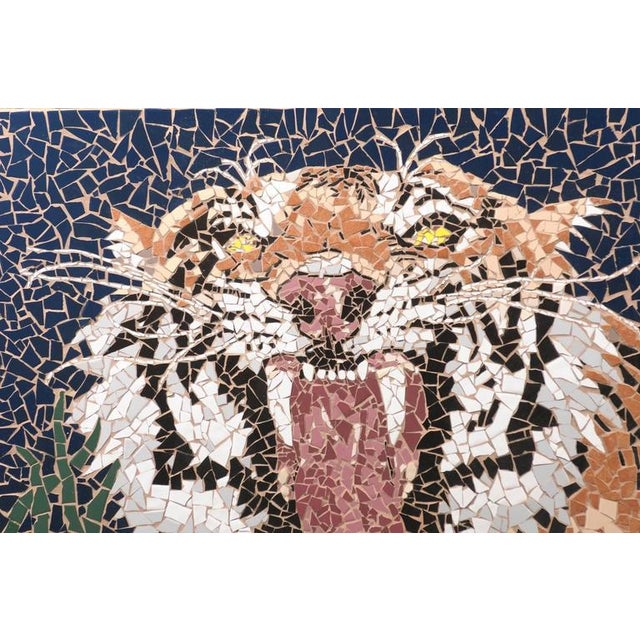 1990s Large Mosaic Tiger Coffee Table For Sale - Image 5 of 7