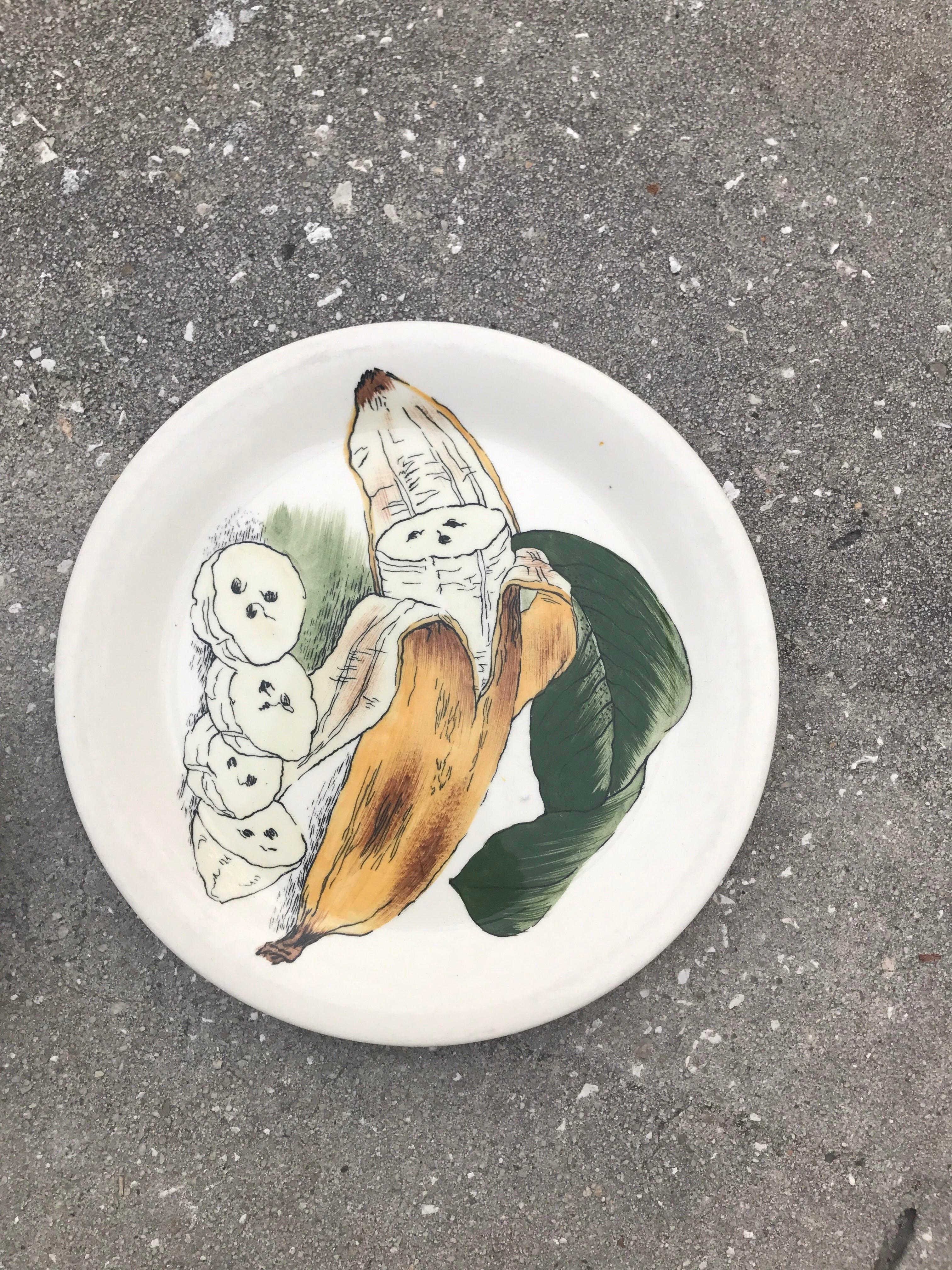 Staffordshire Banana u0026 Orange Decorative Plates - A Pair - Image 2 ...  sc 1 st  Chairish & Staffordshire Banana u0026 Orange Decorative Plates - A Pair | Chairish