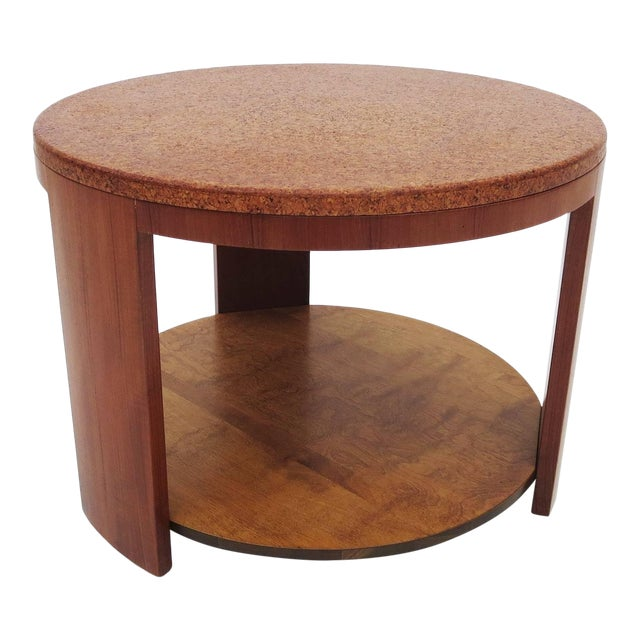 Wood Cork Topped Occasional Table For Sale - Image 7 of 7