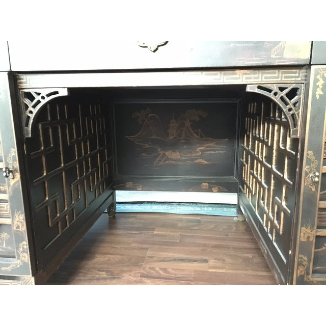 Drexel Heritage Mandalay Asian Chinoiserie Desk - Image 6 of 11