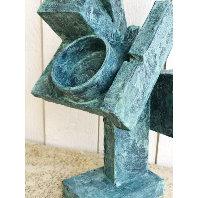 """Mid 20th Century Abstract Cubist Sculpture """"Dancer"""" by Bill Low For Sale - Image 5 of 13"""