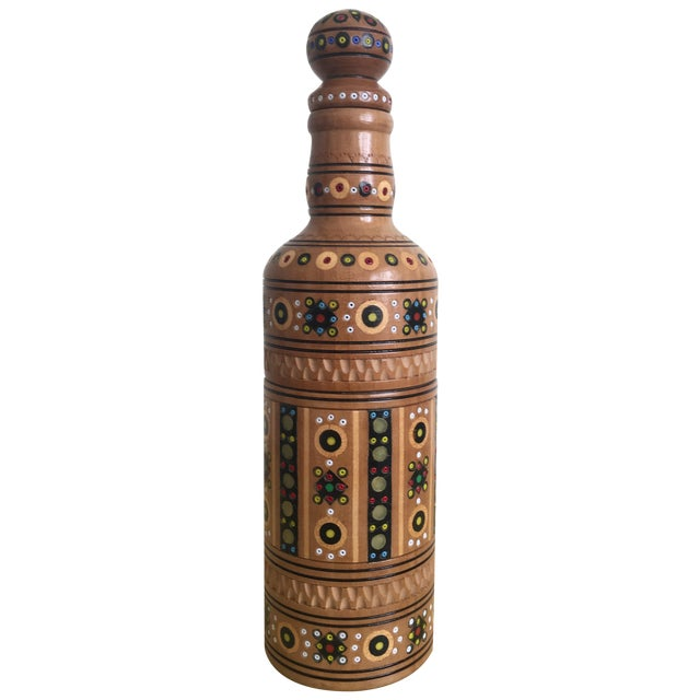 Bohemian Handmade Gypsy Wooden Bottle - Image 1 of 6