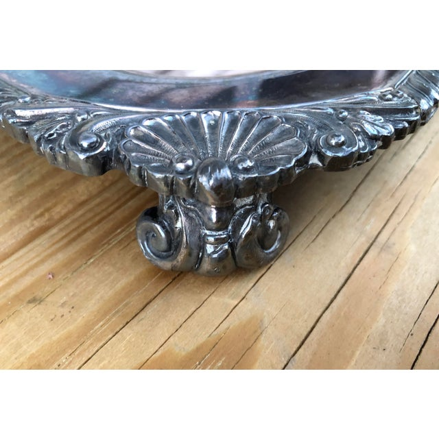 Vintage Silver on Copper Tray For Sale - Image 4 of 8