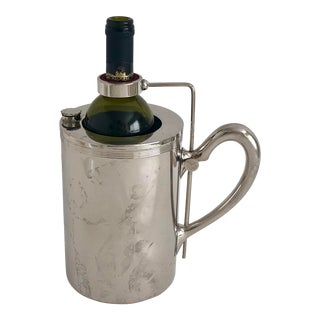 Vintage Silver Wine Chiller Pourer For Sale