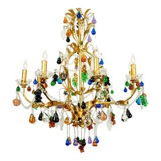 Venetian Crystal Fruit Design Chandelier