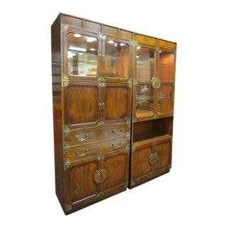 1960s Vintage Henredon Mid Century Modern Storage Cabinets - a Pair For Sale