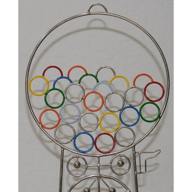 Chrome Joseph A. Burlini Kinetic Gumball Machine Sculpture C.1970s For Sale - Image 7 of 8