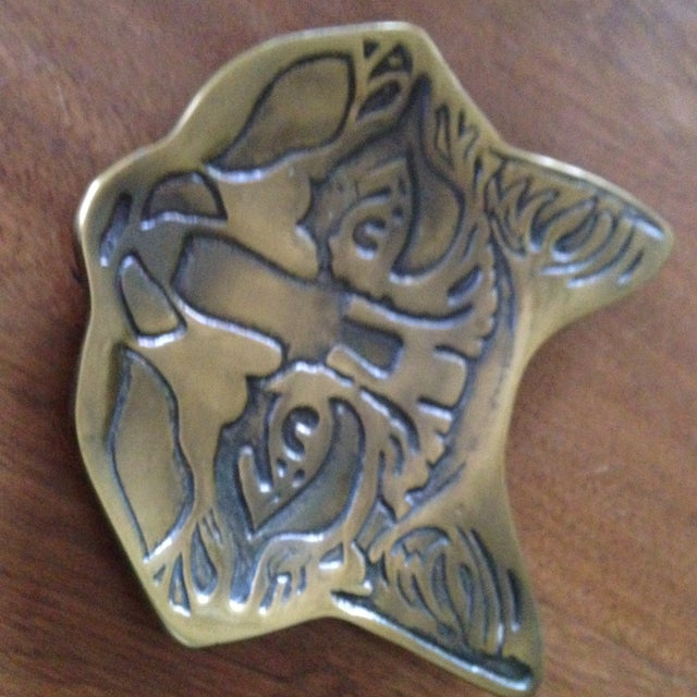 Vintage Brass Fox Catch All Tray - Image 8 of 11