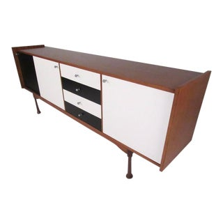 Mid-Century Checker Front Italian Modern Sideboard, Circa 1964 For Sale
