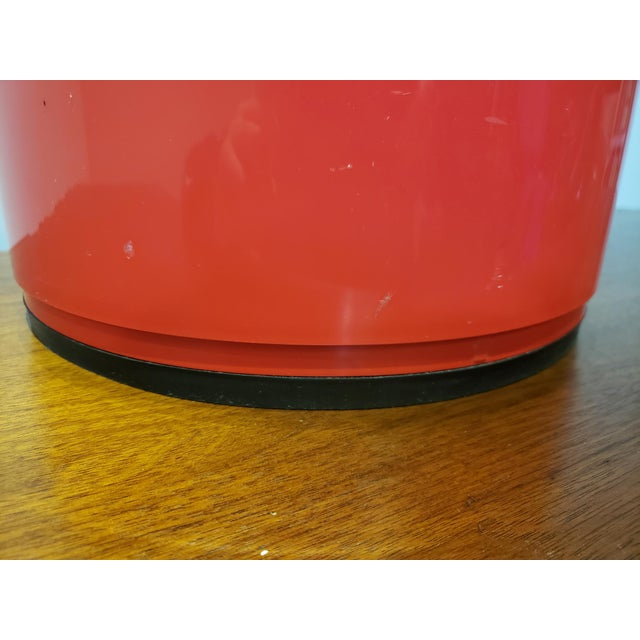 Red Vintage Kartell Componibili Two-Tier Cabinet Side Table For Sale - Image 8 of 11