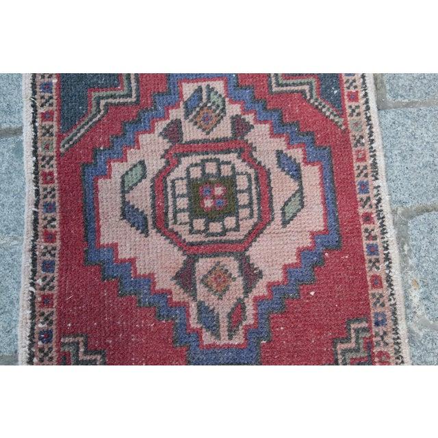 Turkish Nomadic Wool Carpet - 1′8″ × 2′10″ - Image 7 of 9