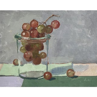 Grape in a Jar - Original Oil Painting by Caitlin Winner