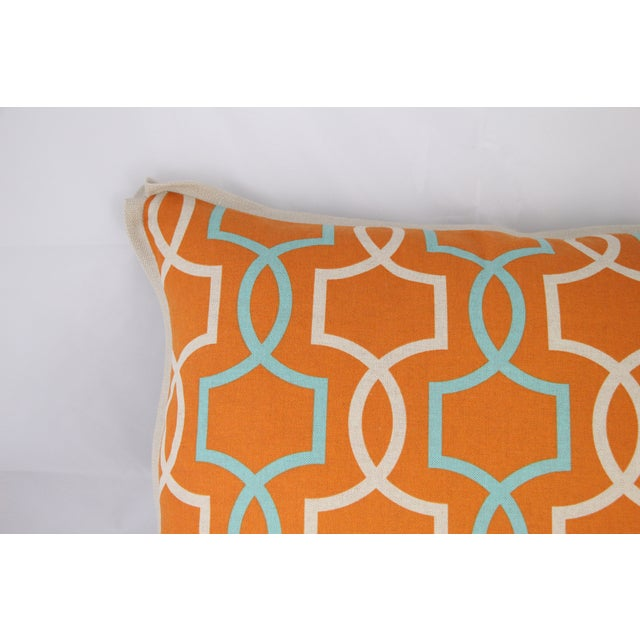Orange Casey Linen Pillow - Image 3 of 7