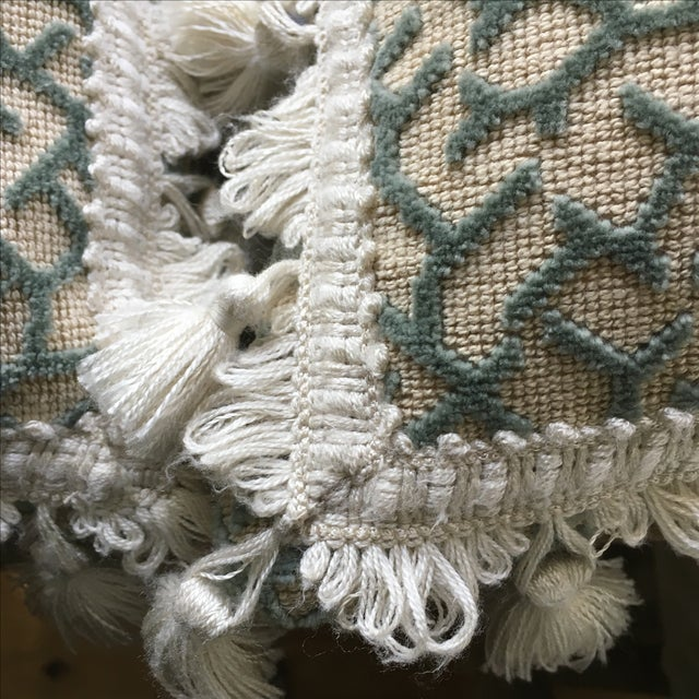 Transitional Fringed Pillows - Pair - Image 3 of 6