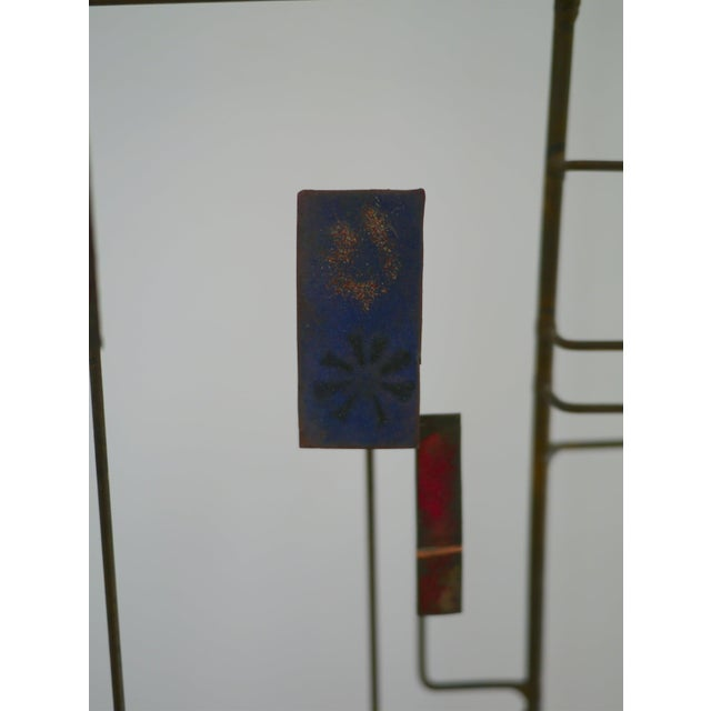 Mid-Century Modern Abstract Copper Sculpture in the Manner of Harry Bertoia For Sale - Image 3 of 11